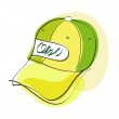 Cartoon cap. — Stock Vector