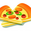 Royalty-Free Stock Vector Image: Slices of pizza.