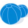 Vector inflatable beach balls - Imagen vectorial