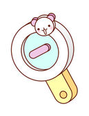 Magnifying glass — Stock Vector