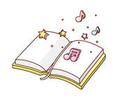 Book and music symbols — Stock Vector