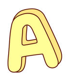 Yellow letters — Vector de stock