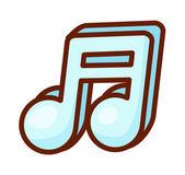 Blue music symbol — Stock Vector