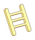 Wooden ladder — Stock Vector