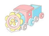 Train jouet — Vecteur