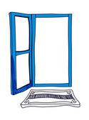 Blue door — Stock Vector