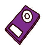 Purple mp3 player — Stock Vector
