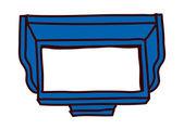 Blue furniture — Stock Vector