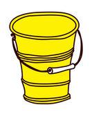 желтое ведро — Cтоковый вектор