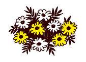 Beautiful flowers — Stock Vector