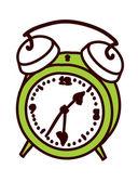 Green alarm clock — Stock Vector