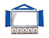 Blue porch — Stock Vector
