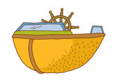 Illustration vectorielle de navire — Vecteur