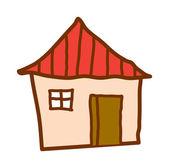Ilustración de vector casa — Vector de stock