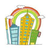 City Vector Illustration — Stock Vector