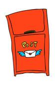 Mail Box Vector Illustration — Stock Vector