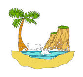 Island Vector Illustration — Stock Vector
