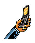 Mobile phone Vector Illustration — Vector de stock