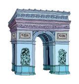 Arc de Triomphe Vector Illustration — Stock Vector