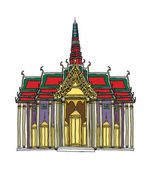 Temple Vector Illustration — Vetorial Stock