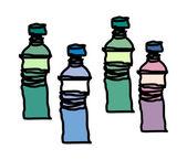 Ilustração vetorial de garrafas — Vetorial Stock