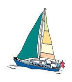 Ship Vector Illustration — Stock Vector