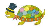 Turtle Vector Illustration — Cтоковый вектор