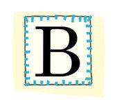 Vektor bokstaven b — Stockvektor
