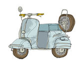 Vector motorbike — Vettoriale Stock