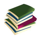 Vetor livros — Vetor de Stock