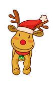 Christmas reindeer. — Stock Vector