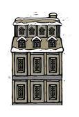 Cartoon house. — Stock Vector