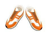 Vctor sneakers. — Stockvektor