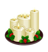 Christmas candle. — Stock Vector