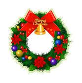 Christmas wreath. — Vetorial Stock
