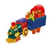 Toy train. — Stock Vector