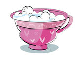 Cup with lather. — Stock Vector