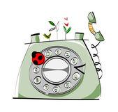 Vector telephone. — Stock Vector