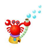 Funny cartoon crab. — Stock Vector