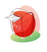 Cartoon mailbox. — Stock Vector