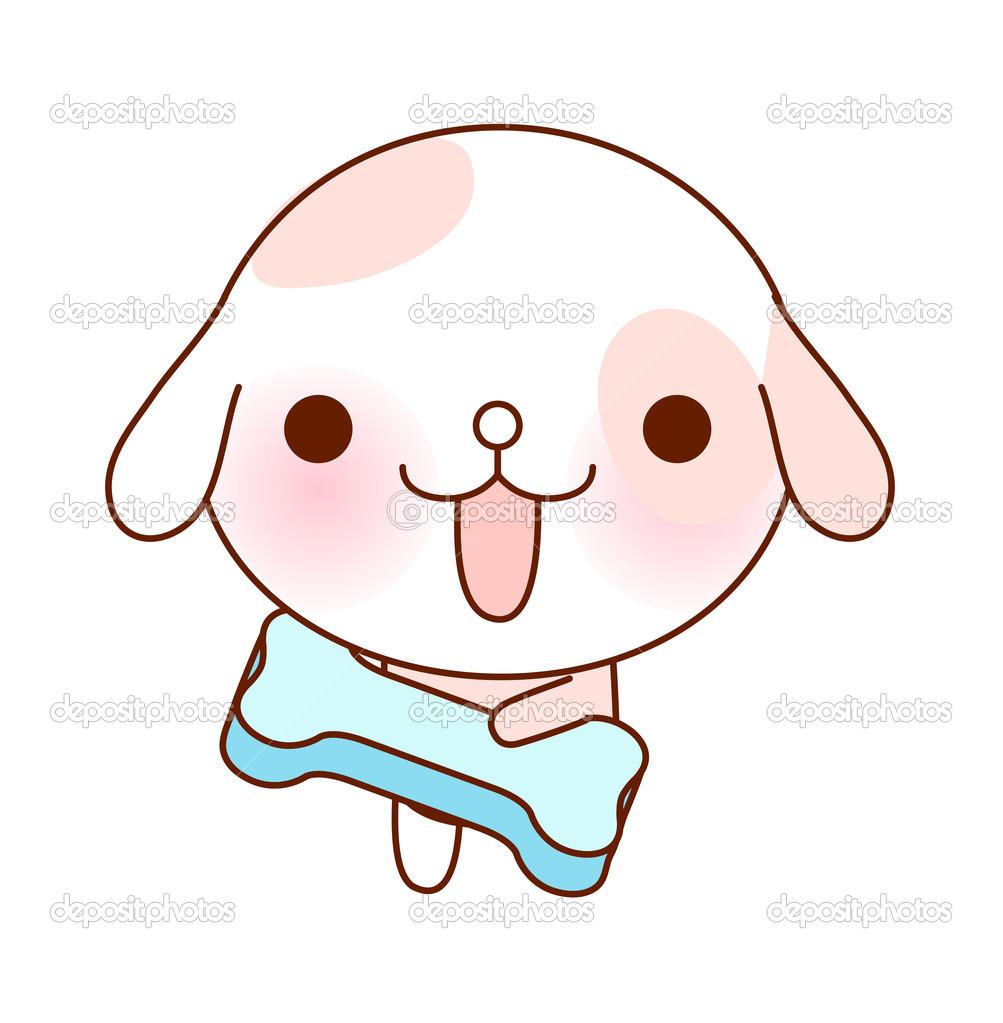 可爱的狗 - 图库插图