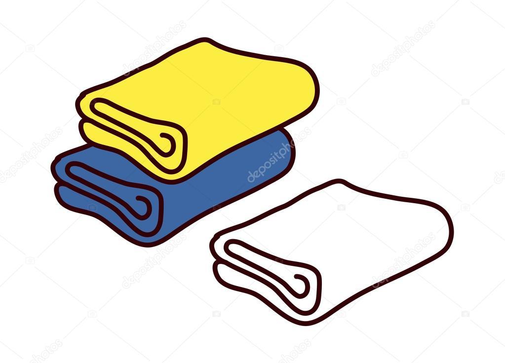 多彩毛巾 — 图库矢量图像08