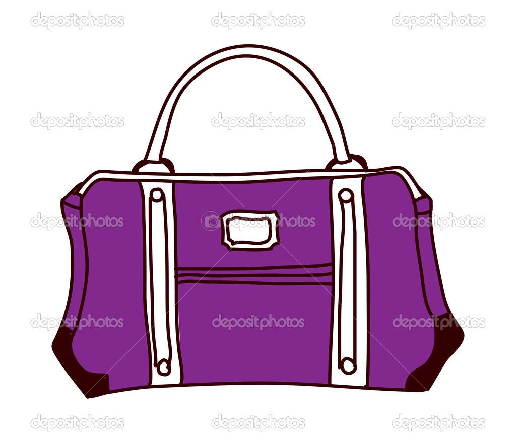 紫色袋 — 图库矢量图像08