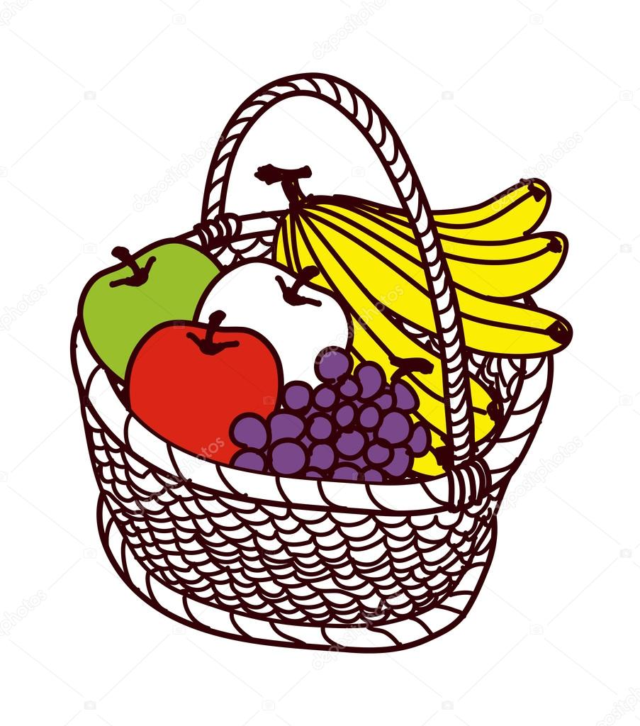 水果篮 — 图库矢量图像08