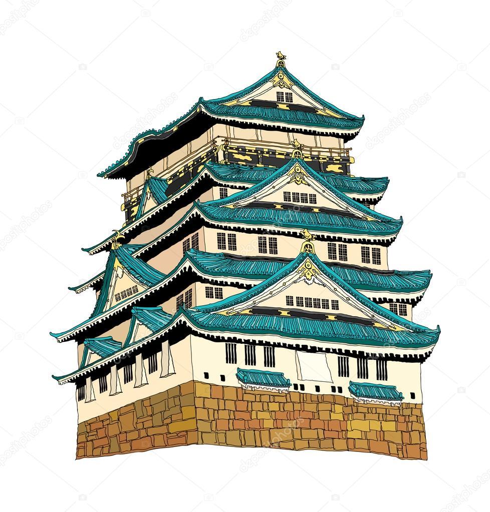 姬路城堡矢量图