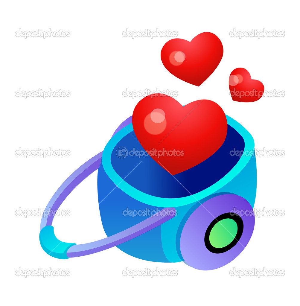 Handcart with hearts.  Imagen vectorial #13468807