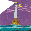 Lighthouse at night — Stock Vector #45108647