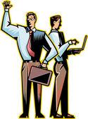 Two businessmen — Stockvektor