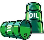 Oil barrels — Stock Vector