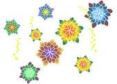 The view of flower pattern — Vector de stock